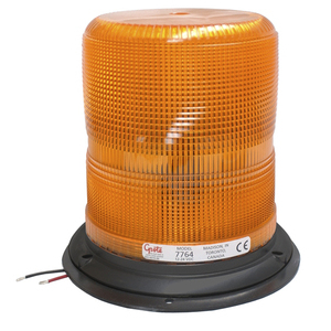 Grote 77643 High Profile LED Strobe, 12 - 24V, 2.9A, Yellow