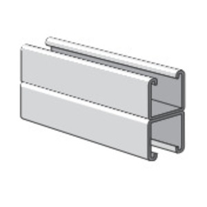 """Power-Strut PS200-2T3-10 Channel - Back To Back, Aluminum, 1-5/8"""" x 3-1/4"""" x 10'"""