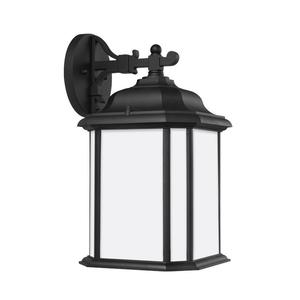 Sea Gull 84531EN3-12 1-Light Outdoor Wall Lantern, LED, 9.5 Watt, 120V, Black Finish
