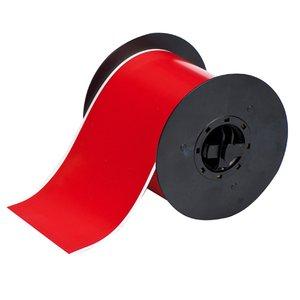 """Brady B30C-4000-595-RD Indoor/Outdoor Vinyl Label, Red, 4"""" x 100'"""