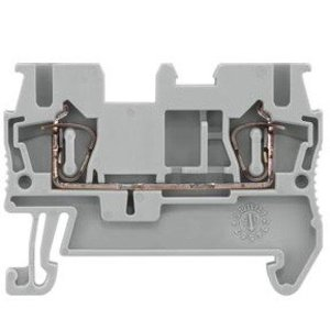 Siemens 8WH20000AF00 Terminal Block, Feed Through, 5.2mm, Gray, Spring Connection