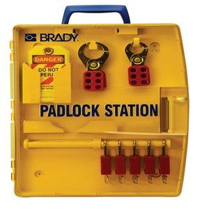 Brady 105928 Padlock Stn W/ 5 Safety Padlocks