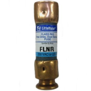 Littelfuse FLNR030 Fuse, 30A, 250VAC/125VDC, 200kA AC, 20kA DC, Class RK5, Time Delay