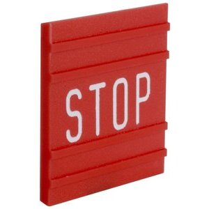 9001B102 LEGEND INSERT (STOP)