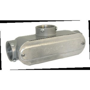 "Bizline BZLCOT4CG Conduit Body, Type: T, 1-1/4"", Form 5, Aluminum"
