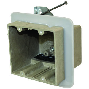 Allied Moulded 2302-HNKV2 Two gang electrical box for use with nonmetallic sheathed cable