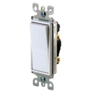 Leviton 5601-P2W Decora Switch, 15A, 120/277VAC