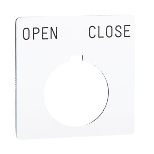 9001KN146WP OPEN-CLOSE NAMEPLATE