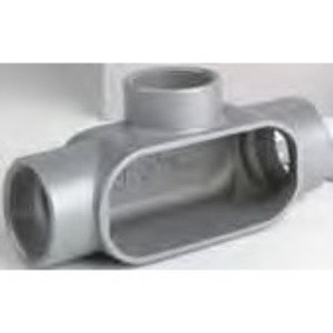 "Bizline BZLCOT1CG Conduit Body, T, 1/2"", Aluminum, Threaded/Set-Screw"