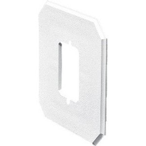"Arlington 8081FC Siding Box Kit, Depth: .375"", 1-Gang, UV Rated Plastic"