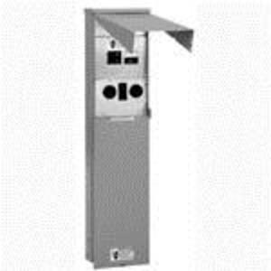 Eaton CHU1N7N4NP Power Outlet, Un-Metered, Pedestal, 125A, 120/240VAC, 3 Receptacles