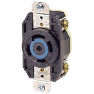 Leviton 2810 Locking Single Receptacle, 30A, 3PH Y 120/208V, 4P5W