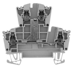 Allen-Bradley 1492-JD3C Terminal Block, 2 Circuit, 20A, 600V AC/DC,  Gray, 2.5mm