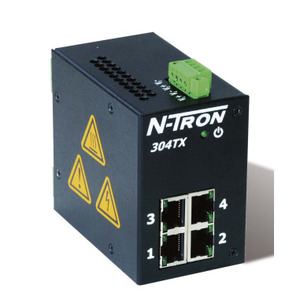 N-TRON 304TX Ethernet Switch, 4 Port, Unmanaged, 10-30VDC, 10/100BaseTX