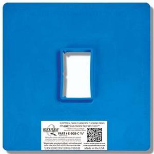 "Quickflash E-SGB-C-7/8 Single Gang Box Flashing Panel 7/8"""