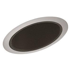 "Juno Lighting 614-BSC Slope Trim, Standard, 6"", Black Baffle/Satin Chrome Trim"