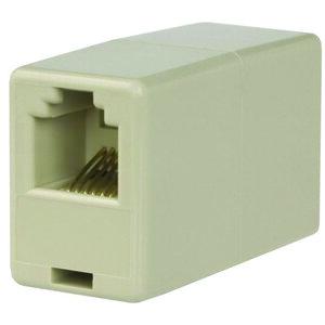 Wattstopper LMRJ-C8 Coupler, 2Port, 2 Cables, 8P8C, Cat5e, RJ45, Non-Plenum Rated