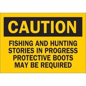 38083 CAUTION HDR FISHING ETC