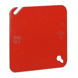 Steel City 52-C-1RD FLAT 4-SQUARE RED COVER
