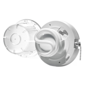 Leviton 9862-PCH CFL Lampholder, w/ Pull Chain and Lamp Guard Lens, 13W *** Discontinued ***