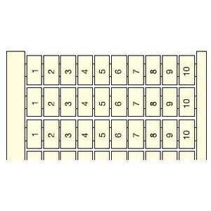 Entrelec 023406005 RC810, Vertical Marking Cards, Legend: 1 - 100