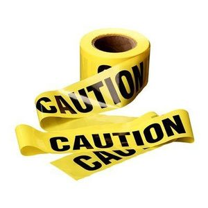 """3M 374 CAUTION DO N ENTER (Yellow) 3"""" x 300'"""