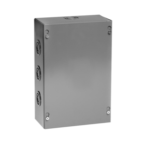 "Unity 664SC Pull Box, NEMA 1, Screw Cover, 6"" x 6"" x 4"", Gray, KOs"
