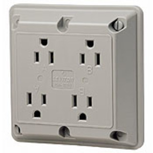 1254R RD REC 4IN1 2P/3W GROUND 15A125V