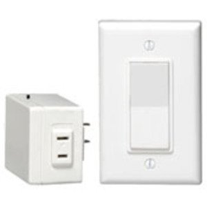 Leviton 6697-W Wireless Switch, 300/600W, Plug-In, Anywhere RF, White *** Discontinued ***