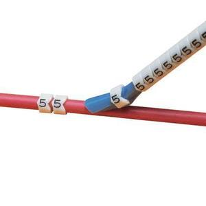 Panduit PCA13-1 Clip-On Wire Markers, Legend: 1