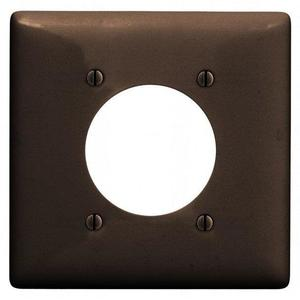 "Hubbell-Wiring Kellems NP703 WALLPLATE, 2-G, 2.15"" OPNG, BR"