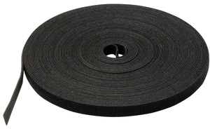 "Velcro 189645 Velcro Strapping, 3/4"" Wide, 75' Long, Black"