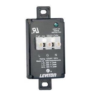 Leviton 3800-DIN Equipment Cabinet Surge Protective Modules, Din-Rail Mont, 120VAC