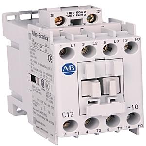 Allen-Bradley 100-C12KL10 Contactor, IEC, 12A, 3P, 200-230VAC Coil