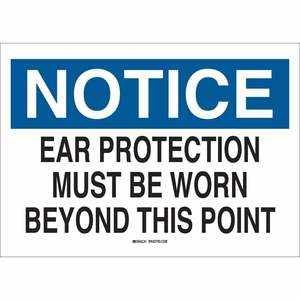 25487 EAR PROTECTION SIGN
