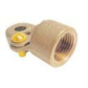 """Greaves G3BS Ground Clamp, Water Pipe 1/2 - 1"""", Max Wire Size 4/0 AWG, Brass"""