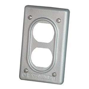 Appleton FSK-1DR-C Duplex Receptacle Cover, 1-Gang, Malleable Iron