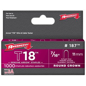Arrow 187M T18 Round Crown Staple