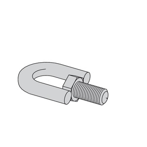 Eaton B-Line B446B-1/2ZN SWIVEL HANGER, MALE ONLY, 1/2-IN.-13, ZINC PLATED