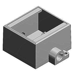 Thomas & Betts FDC12-TB 1/2IN, 2G-DEEP BOX, IRON, THRU-FEED