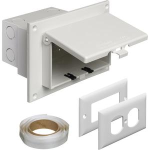 Arlington DBHR1W Weatherproof-In-Use Box, 1-Gang, Recessed, Horizontal, Non-Metallic