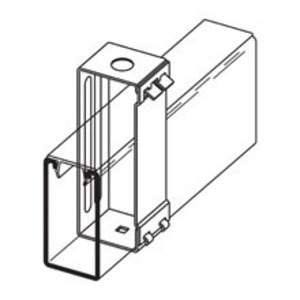 Eaton B-Line B616-22A-9/16ZN CHANNEL HANGER, 9/16-IN. DIA. FOR 1/2-IN. ATR, ZINC PLATED