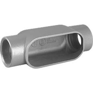 """Hubbell-Killark C27 Conduit Body, Type: C, Size: 3/4"""", Series 7, Malleable Iron"""