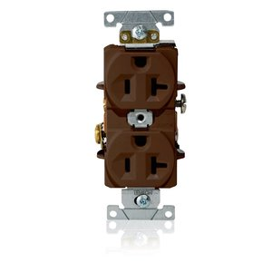 Leviton L5362 520R IND DUPLEX REC BRN