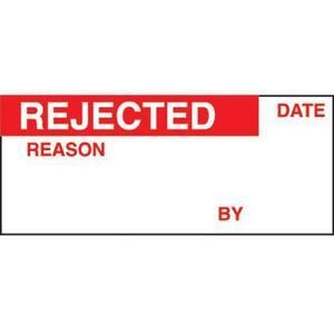 Panduit PCWL-REJ Write-On Label, Vinyl Cloth, 'Rejected',