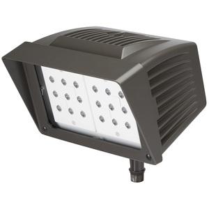 Atlas Lighting Products PFM43LED Flood Light, LED, 46.61W, 120-277V, Bronze