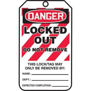 Panduit PCTL-1057-Q LAMINATED TAG, DANGER LOCKED OUT DO NOT *** Discontinued ***