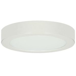 "Satco S8674 Battery Backup Casing for LED Fixture, 13"" Round, White"