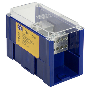 Ilsco LDB-22-500-LG Power Distribution Block, 2-Pole, 4 AWG - 500 MCM, 760A