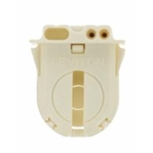 Leviton 23652-NP Fluorescent Lampholder, Medium Base, Turn Type w/ Lock, White